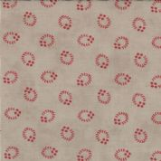 Moda - Grant Park - 3071 - Red Circular Print on Taupe - 14776-18 - Cotton Fabric